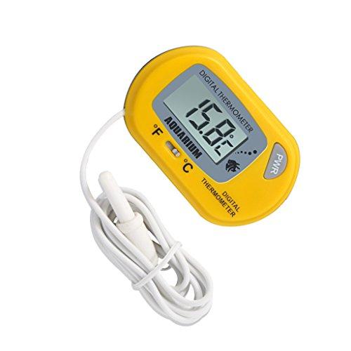 Baoblaze Digital LCD Aquarium Wasser Thermometer Temperatur Messergerät für Fish Tank Fisch Behälter -