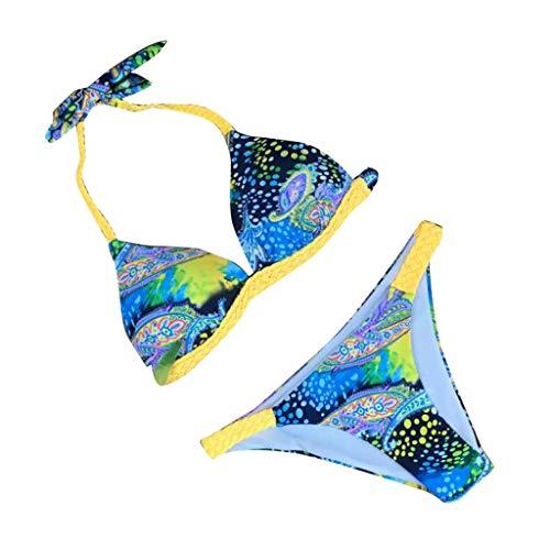 Tonsee  Maillot de Bain Femme, Maillot de Bain Deux pièces Ensemble de Bikini Sexy Maillot de Bain imprimé Beachwear Suit