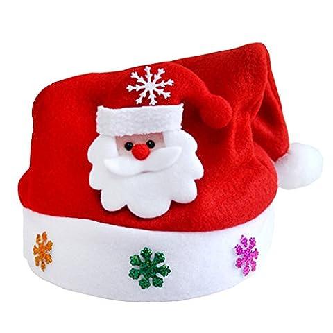 MagiDeal Christmas Unisex Children Hat Santa Claus Hat Novelty Red Pointy Santa Hat