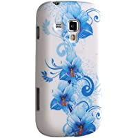 Voguecase Colorful SoftGel Flexible TPU Silicone Skin Case Cover per Samsung Galaxy S Duos S7562 con Free Universal Screen-Stylus(Blue flower)