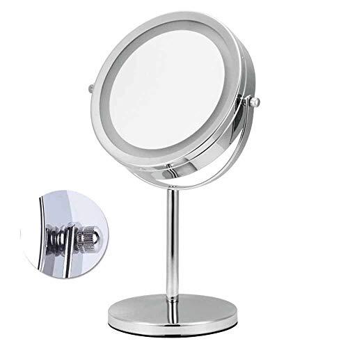 YLMRXL VergrößerungsSpiegel, Tabletop Spiegel 15.5 * 32.5CM LED Makeup Spiegel- Doppelseitig, beleuchtet 1x oder 10x Vergrößerung,10x - Doppelseitige, Beleuchtete Make-up-spiegel