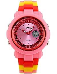 ufengke® kinder alarmleuchtwasserdichten im freien-elektronischen sports armbanduhren-pink