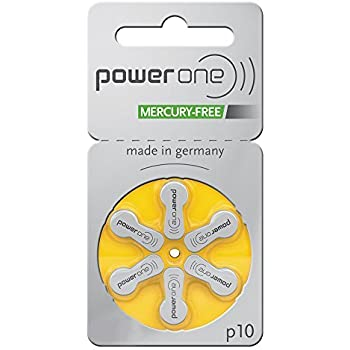 PowerOne Hearing Aid Batteries Size 10 - 10 Packs of 6 Cells