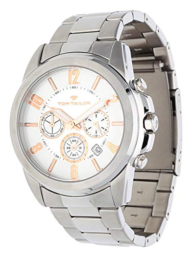 Tom Tailor Homme Montre Chronograph Argent 5416702
