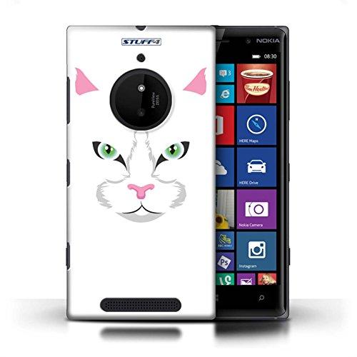 Kobalt® Imprimé Etui / Coque pour Nokia Lumia 830 / Chat noir conception / Série Museaux Black