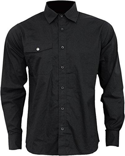 Spiral -  Camicia Casual  - Uomo Black XX-Large