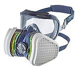 GVS FILTER TECHNOLOGY SPR537 Elipse INTEGRA ABEK1P3 semimaschera con protezione occhi e filtri sostituibili pronta all'uso S/M blu