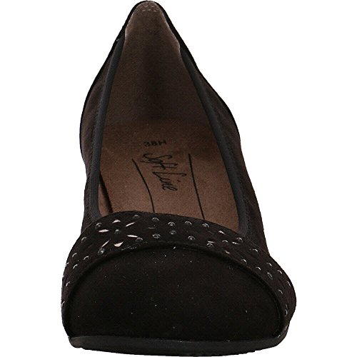 Jana 8-8-22260-20/001, Scarpe col tacco donna Nero
