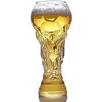 JYYC Taza del fútbol del fútbol de la Moda Taza de Cristal de la Cerveza de