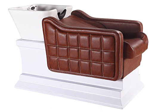 Bobo Angel Backwash Chair Salon Bowl Shampoo Equipment Sink Unit Double Drain Beauty Stylist Station BOSH012