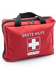Augensp/ülung B/üro oder Auto Rot 90-teiliges Premium Erste-Hilfe-Set Rettungsdecke f/ür zu Hause enth/ält Sofort K/ühlpacks