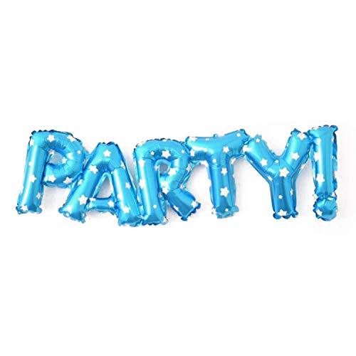 Ballon Luft-Ballon Party BLAU Schriftzug Aufpusten Geburtstag Hochzeit Feier ()