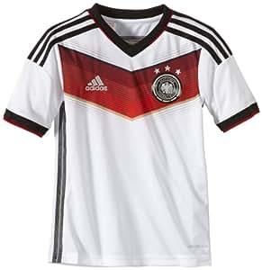 adidas Allemagne Home Maillot Garçon Blanc/Noir/Vic Rouge/Mtsilv FR : 9-10 ans (Taille Fabricant : 140)