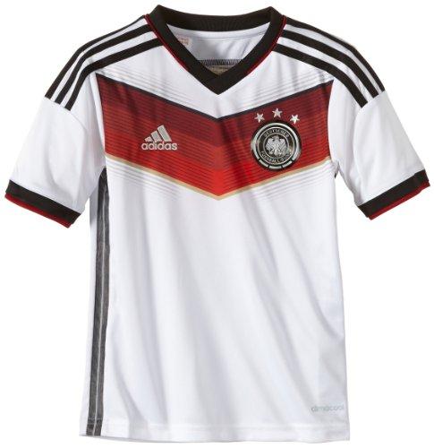 Kleinkind Fußball Jersey (adidas Kinder Trainingsshirt DFB Trikot Home WM, Weiß / Schwarz, 152, G75073)