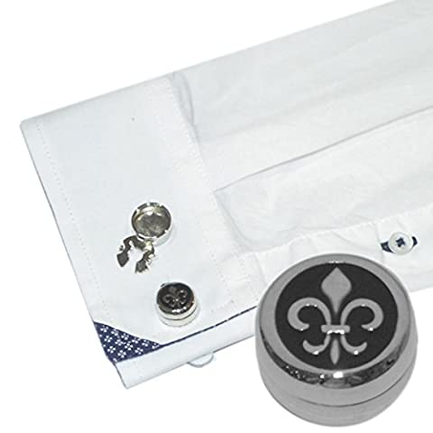 One Pair Of Fleur de Lys Design Cuff Button Covers New Alternative to Cufflinks X2AJBC004