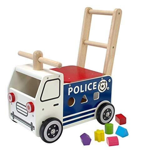 I M TOY - Correpasillos Andador de Madera camión de policía - IM87701 06115a51e17
