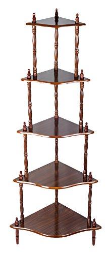 Jocca 3920 - Rinconera con 5 estantes de madera