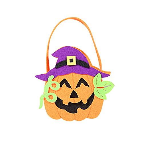 VEMOW Heißer Halloween Party Nette Hexen Candy Bag Verpackung Kinder Party Aufbewahrungstasche Geschenk(Mehrfarbig A, 22 * 18cm)