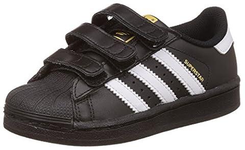 adidas Superstar, Sneakers Basses garçon, Noir (Core Black/Ftwr White/Core Black), 34 EU (UK child 2 Enfant UK)