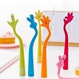 Gudotra 30pz Penna a Sfera Bambini Carino Piega il Segno della Mano per Regalo Compleanno Feste
