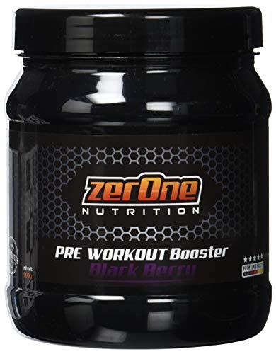 ZerOne Pre Workout Booster Fitness | Maximaler Pump Fokus | Leucin | Isoleucin | Valin 2:1:1 | Energie Kraft Ausdauer | L-Citrulline Maca | Koffein Guarana | Taurin | Black Berry 500g