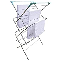 Greenfields Indoor Outdoor Folding Extendable 3 Tier Clothes Drying Rack, Folding and Space saving, Great Organisation for Laundry Room, Living room, Bedroom, Kitchen, Garden