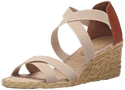 Lauren Ralph Lauren Cortney Donna US 10 Beige Sandalo con la Zeppa