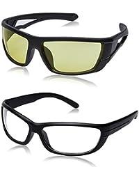 Criba Anti-Reflective Sport Unisex Sunglasses - (Yellow - Fog|50|White Color)