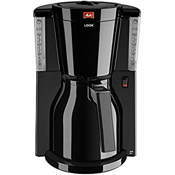 melitta look iv therm coffee filter machine black