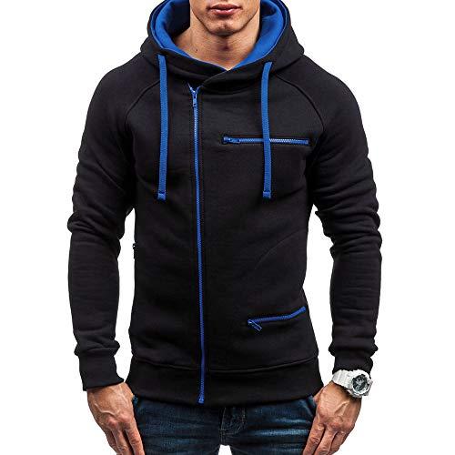 Qinsling felpa con cappuccio uomo inverno maglione elegante maniche lunghe distintivo hoodie sweatshirt camicetta dolcevita classico tops