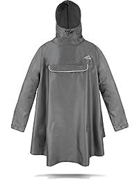 normani Regenponcho mit Ärmeln und Brusttasche für Damen und Herren [S-3XL] -YKK Brusttasche und 3M™ Scotchlite™ Reflektor