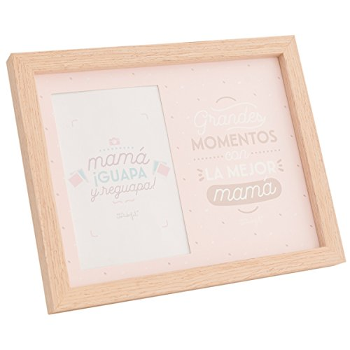 Mr. Wonderful Marco de Fotos, Madera, Rosa, 20 x 1,5 x 25 cm