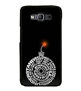 Fuson Designer Back Case Cover for Samsung Galaxy On5 (2015) :: Samsung Galaxy On 5 G500Fy (2015) (understand wrong sand simple joining)