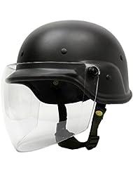 Tactical militares Airsoft M88 PASGT Kelver Swat casco con visera clara (Black)