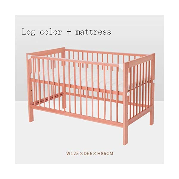 QINYUN Crib Splicing Bed Multi-functional Newborn Bed Solid Wood Baby Bed,D QINYUN 1. Tough bed board excellent load-bearing: Encrypted skeleton full-size wooden bed board design baby mother safe entertainment game 2. Silent walking baby sweet sleep: regular size bed mute caster shuttle unobstructed 3. Designed to grow with your child, the crib bed can be doubled as a baby bed by removing the sides and dropping the ends. 1