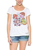 Desigual Achlys - T-shirt - Imprimé - Manches courtes - Femme