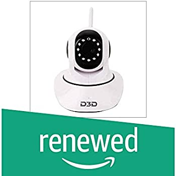 (Renewed) D3D Wireless HD IP WiFi CCTV [Watch Online Demo Right Now] Indoor Security Camera (Support Upto 128 GB SD Card) (White Color) Model:D8810