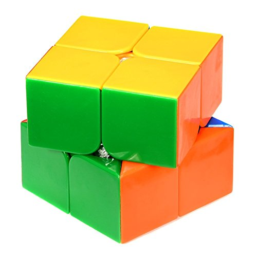 Assemble QIYI Texton 2x2 High Speed Stickerless Speedy Rubik Magic Puzzle Cube  available at amazon for Rs.199