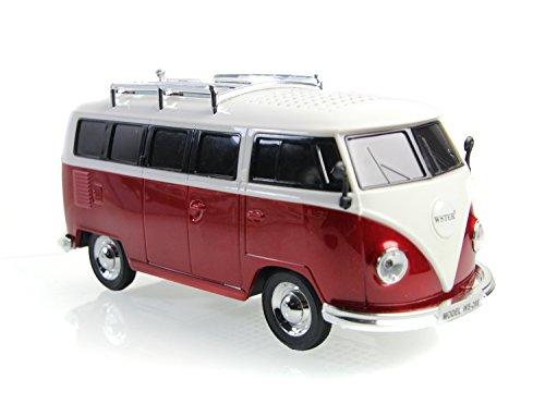 Nostalgie BULLY - BOX | Bulli Bus T1 Modell | Radio |ROT | Deutsche Bedienungsanleitung Bus-boxen