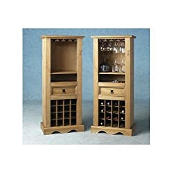 Pine Wine Rack Solid Mexican Pine Shelving Storage Cabinet Corona
