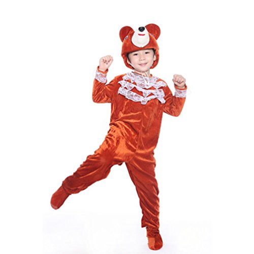Honeystore Kind's Unisex Panda Kostüm Cosplay Jumpsuit Freizeitkleidung Pyjamas (Zwillinge Siamesische Ideen Kostüm)