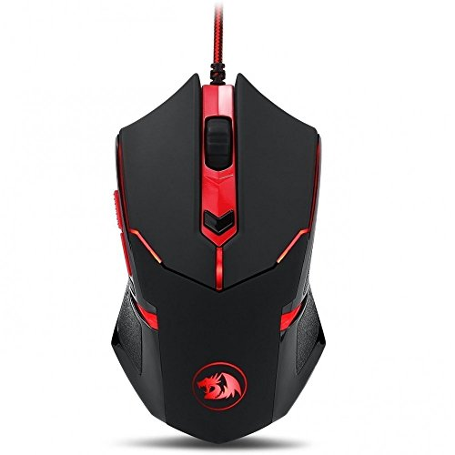 Redragon M601 Ratón Para Gaming, rojo led, 3200 DPI 6 Botones ergonómicos CENTROPHORUS Gaming Mouse para PC Windows 10, 8, 7, Vista, XP