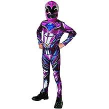 Saban–i-630713m–Disfraz clásico Power Rangers–Rosa–Talla M