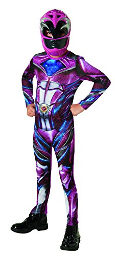 Rubie's 3630713 - Pink Power Rangers 2017 Classic, Action Dress Ups und Zubehör, L (Pink Power Kinder Kostüm Ranger)