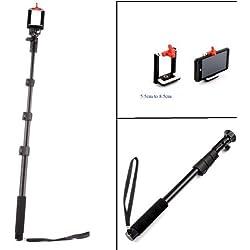 Yunteng monopiede GoPro selfie stick Pole 1.25m (include adattatore mobile phone)
