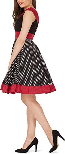 'Sylvia' Vintage Polka-Dots Pin-up-Kleid - 2