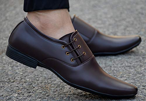 Buy AADI Men's Synthetic Formal Lace Up Shoes (Brown,UK6) Online at Low  Prices in India   AADI Men's Synthetic Formal Lace Up Shoes (Brown,UK6)  Reviews, Ratings   IdeaKart.com India