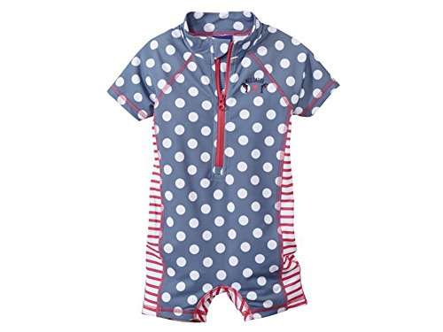 Kleinkinder Mädchen UV-Schutz Badebekleidung Verschiedene Fabren und Größen Wählbar (74-80, Blau mit - Kleinkinder-badebekleidung
