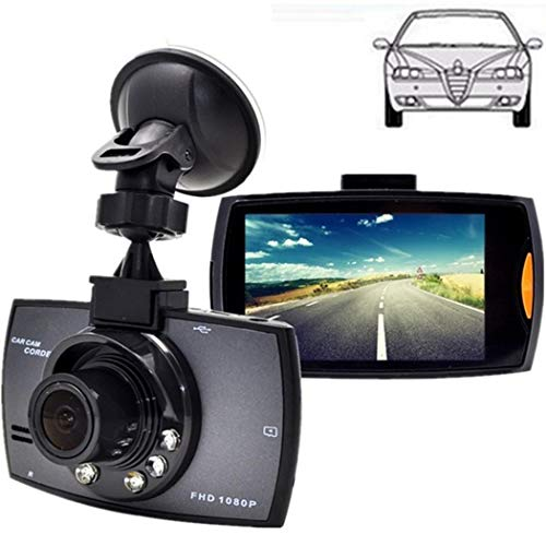 GUIGSI Dash Cam 1080P FHD DVR Car Driving Recorder 2.7 Inch LCD Screen 120° Wide Angle, G-Sensor, Loop Recording, Motion Detection