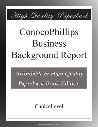 conocophillips-business-background-report